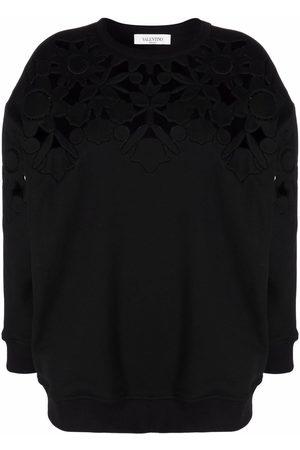 VALENTINO Women Sweatshirts - Floral-detail sweatshirt
