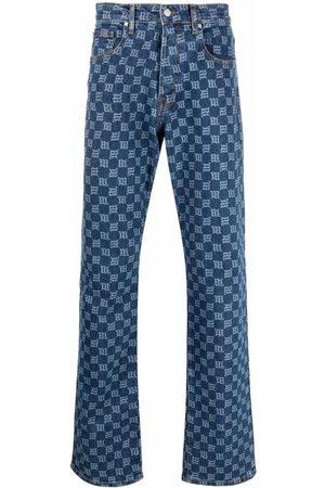 MISBHV Wide Leg Pants - Monogram denim trousers