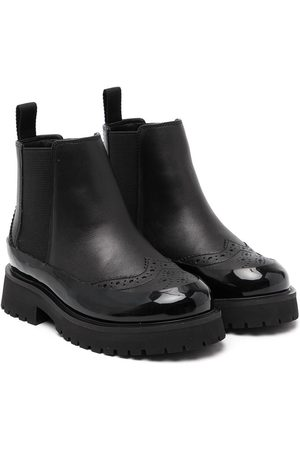 Burberry Boys Ankle Boots - Brogue-detail ankle boots