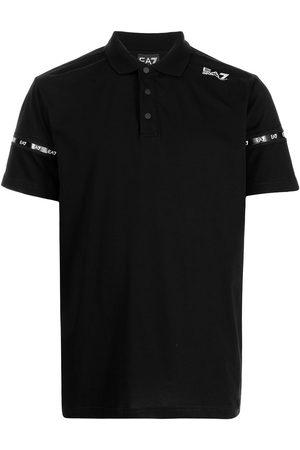 EA7 Men Polo Shirts - Logo-print cotton polo shirt