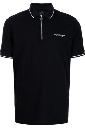 Armani Embroidered-logo polo shirt