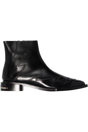 TOGA PULLA Zig-zag stitched Chelsea boots