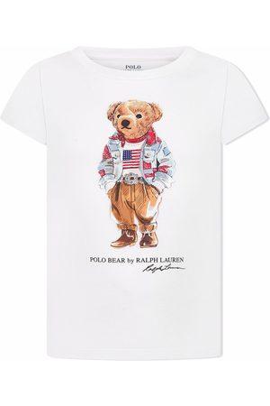 Ralph Lauren Girls Polo Shirts - Polo bear print T-shirt