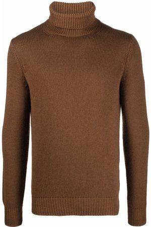 DELL'OGLIO Men Turtlenecks - Roll-neck rib-trimmed jumper