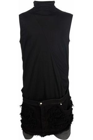 Rick Owens Men Tank Tops - Jean detail tank top