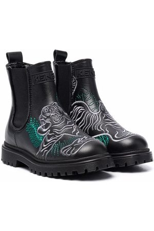 Kenzo Boys Ankle Boots - Embroidered ankle boots