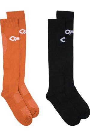 OFF-WHITE Two-pack logo performance socks