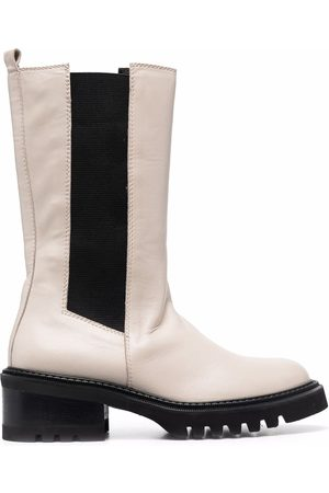 Via Roma Women Boots - Panelled pull-on boots - Neutrals