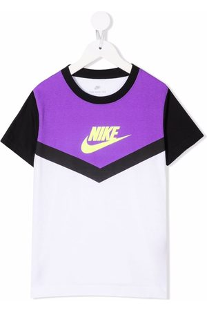 Nike Boys T-shirts - Swoosh-print cotton T-Shirt