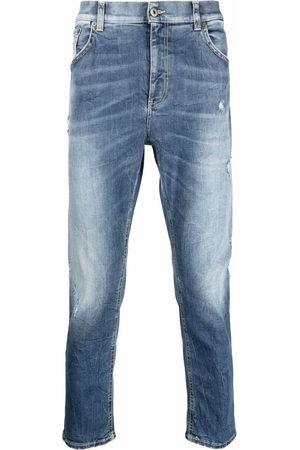 Dondup Men Straight - Stonewashed cropped jeans