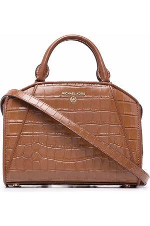 Michael Kors Crocodile-effect leather tote bag