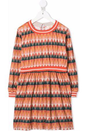 COCO AU LAIT Girls Printed Dresses - Geometric-print cotton dress