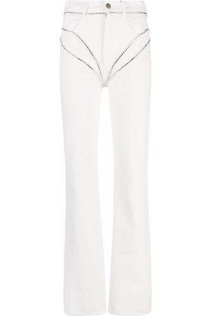 Seen Users Women Bootcut - Studded-strap bootcut jeans
