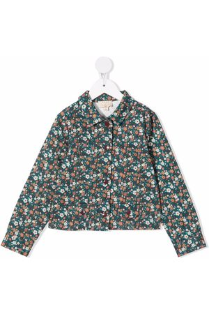 COCO AU LAIT Girls Denim Jackets - Floral-print cotton jacket