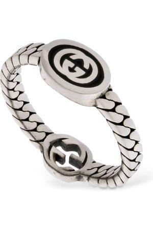 Gucci Thin Interlocking G Enamel Ring