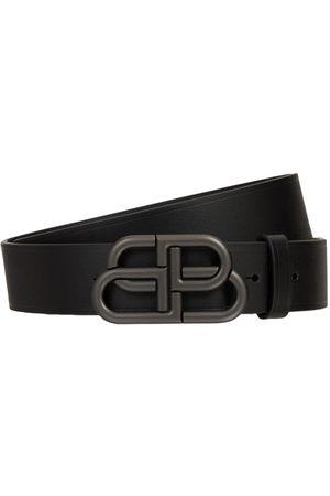 Balenciaga Men Belts - Logo Leather Belt