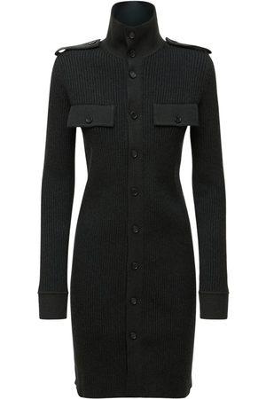 Bottega Veneta Women Party Dresses - Ribbed Cashmere Blend Mini Dress