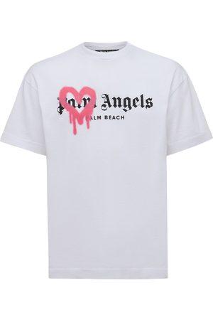 Palm Angels Palm Beach Heart Spray Cotton T-shirt