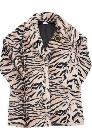 Roberto Cavalli Zebra Print Faux Fur Coat