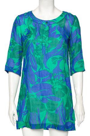 Max Mara Printed Ramie Short Tunic Dress S