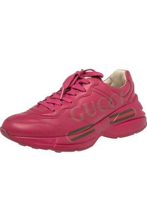 Gucci Women Sneakers - Leather Rhyton Logo Print Low Top Sneakers Size 39