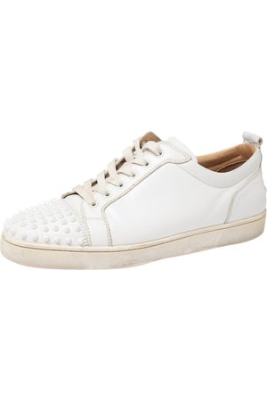 Christian Louboutin Boys Sneakers - Leather Louis Junior Spike Sneakers Size 45