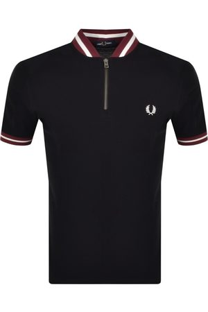 Fred Perry Men Bomber Jackets - Half Zip Bomber Neck T Shirt In