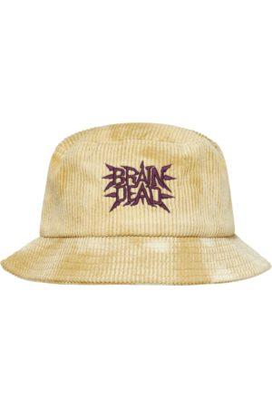 Brain Dead Men Hats - Spikey bleached cord bucket hat