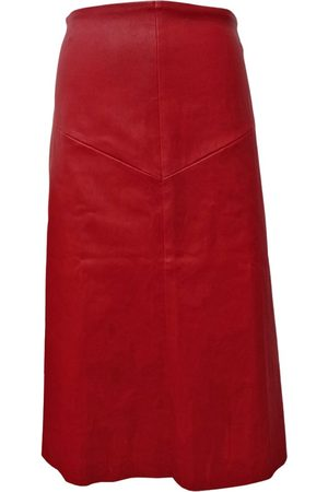 Stouls Leather mid-length skirt