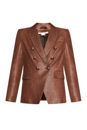VERONICA BEARD Women Leather Jackets - Miller Leather Dickey Jacket