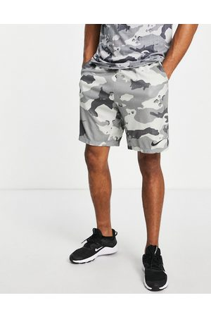 Nike Dri-FIT camo print shorts in -Grey