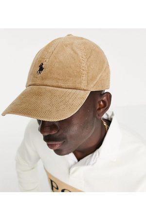 Polo Ralph Lauren X ASOS Exclusive collab corduroy cap in tan with pony logo-Neutral