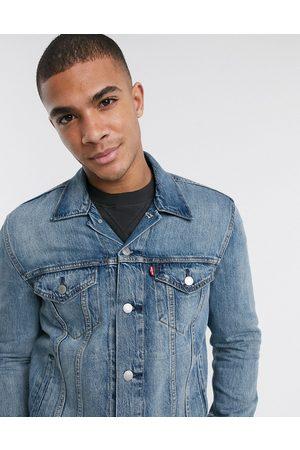 Levi's The trucker denim jacket in blue mid wash-Blues