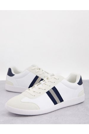ASOS Lace up retro stripe sneakers in