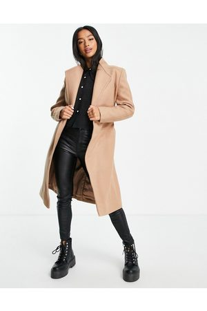 EVER NEW For belted wool trench coat in camel-Neutral
