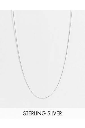 ASOS Sterling skinny neckchain with flat links in