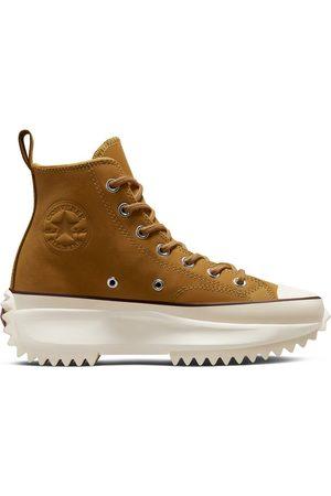 Converse Run Star Hike Hi Cold Fusion nubuck leather platform sneakers in wheat