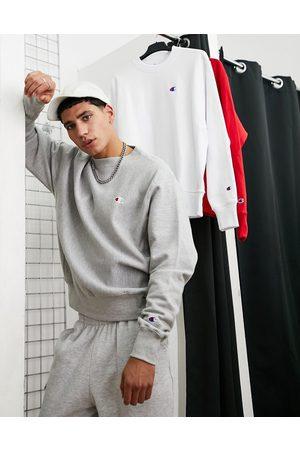 Champion Men Hoodies - Small logo sweatshirt in -Grey