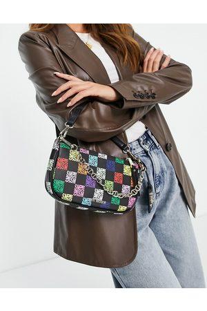 Steve Madden Women Purses - Bsister rainbow monogram shoulder bag in