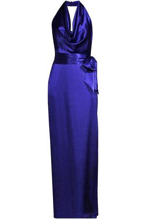 Aidan Mattox Women Halterneck Dresses - Cowl Halterneck Gown
