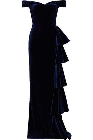 CHIARA BONI Willa Off-The-Shoulder Velvet Gown