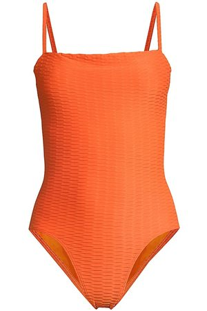 Solid and Striped Women Swimsuits - Gemma Chain Rib One-Piece
