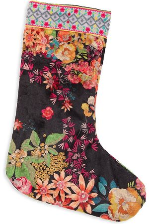 JOHNNY WAS Women Stockings - Floral Holiday Stocking