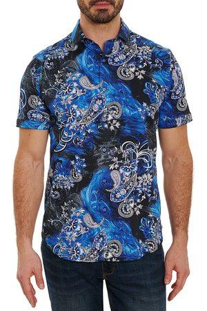 Robert Graham Men Short sleeves - Sunami Paisley Print Short-Sleeve Button-Down Shirt