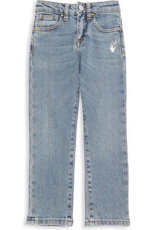 OFF-WHITE Little Kid's & Kid's Slim Logo Jeans