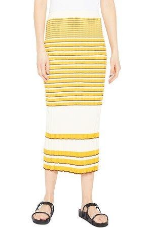 THEORY Women Pencil Skirts - Irregular Rib-Knit Skirt