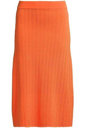 Solid and Striped Women Midi Skirts - Vivienne Zigzag Midi Skirt