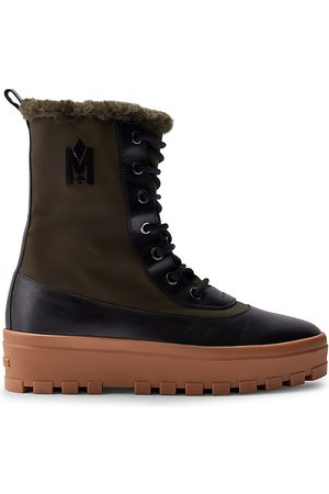 Mackage Nylon & Leather Lace-Up Boots