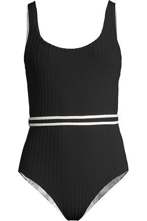 Solid and Striped Women Swimsuits - Annemarie Reversible One-Piece