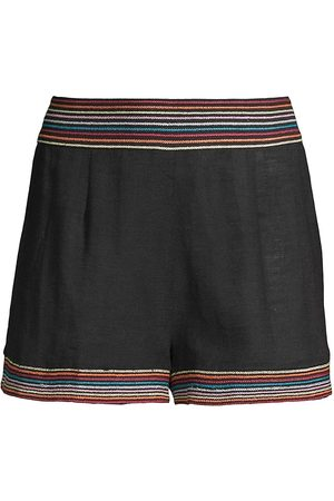 Solid and Striped Women Accessories - Lennox Smocked Cotton Shorts